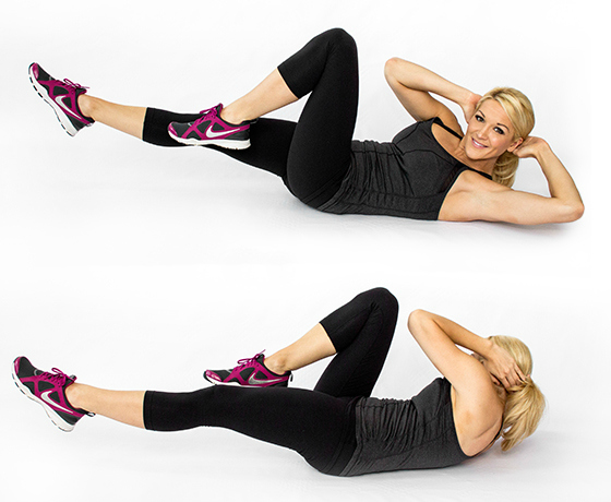 Move of the month bicycle crunch complete fitness for Floor ab workouts