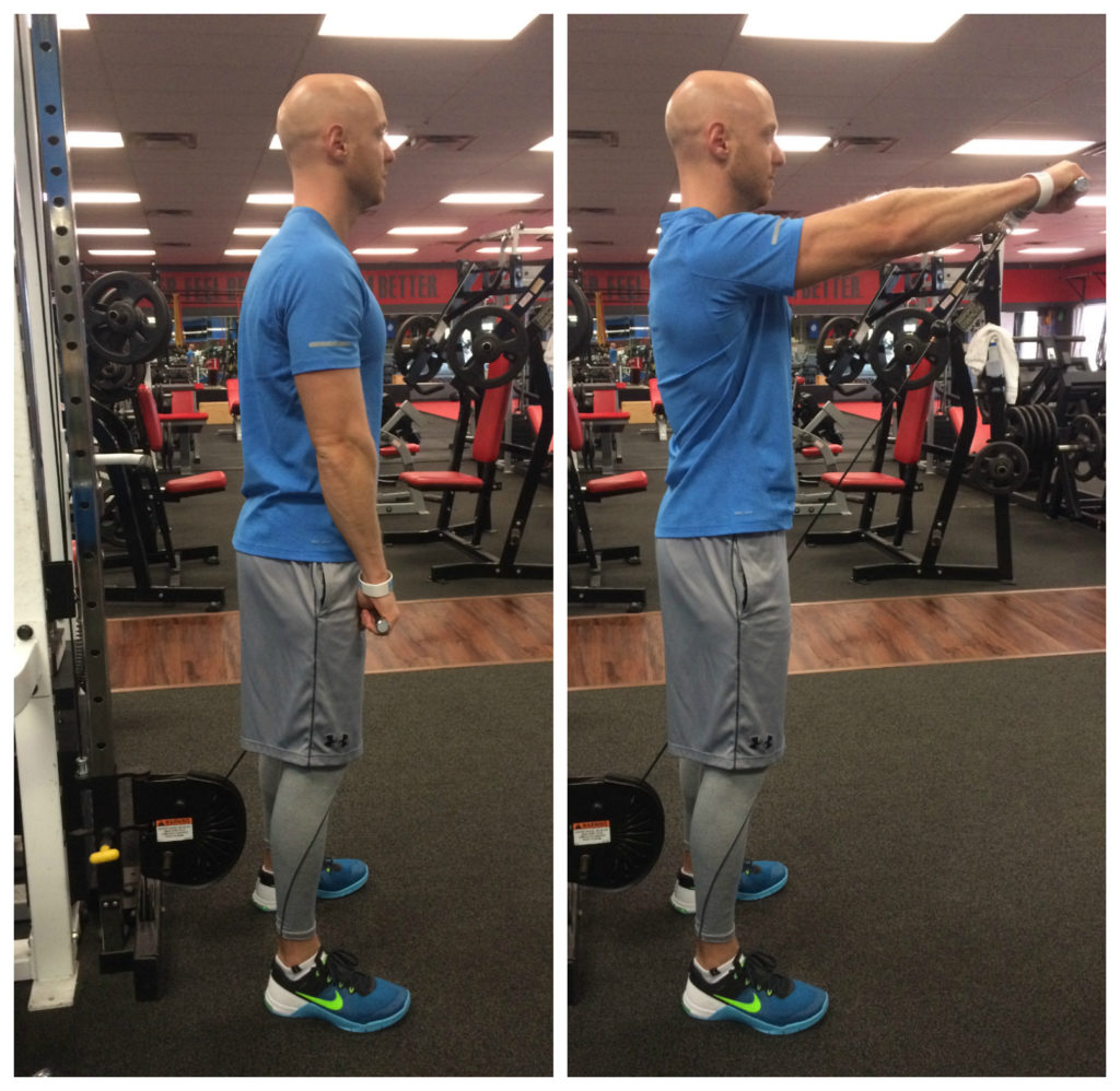 cable front raise move of the month complete fitness