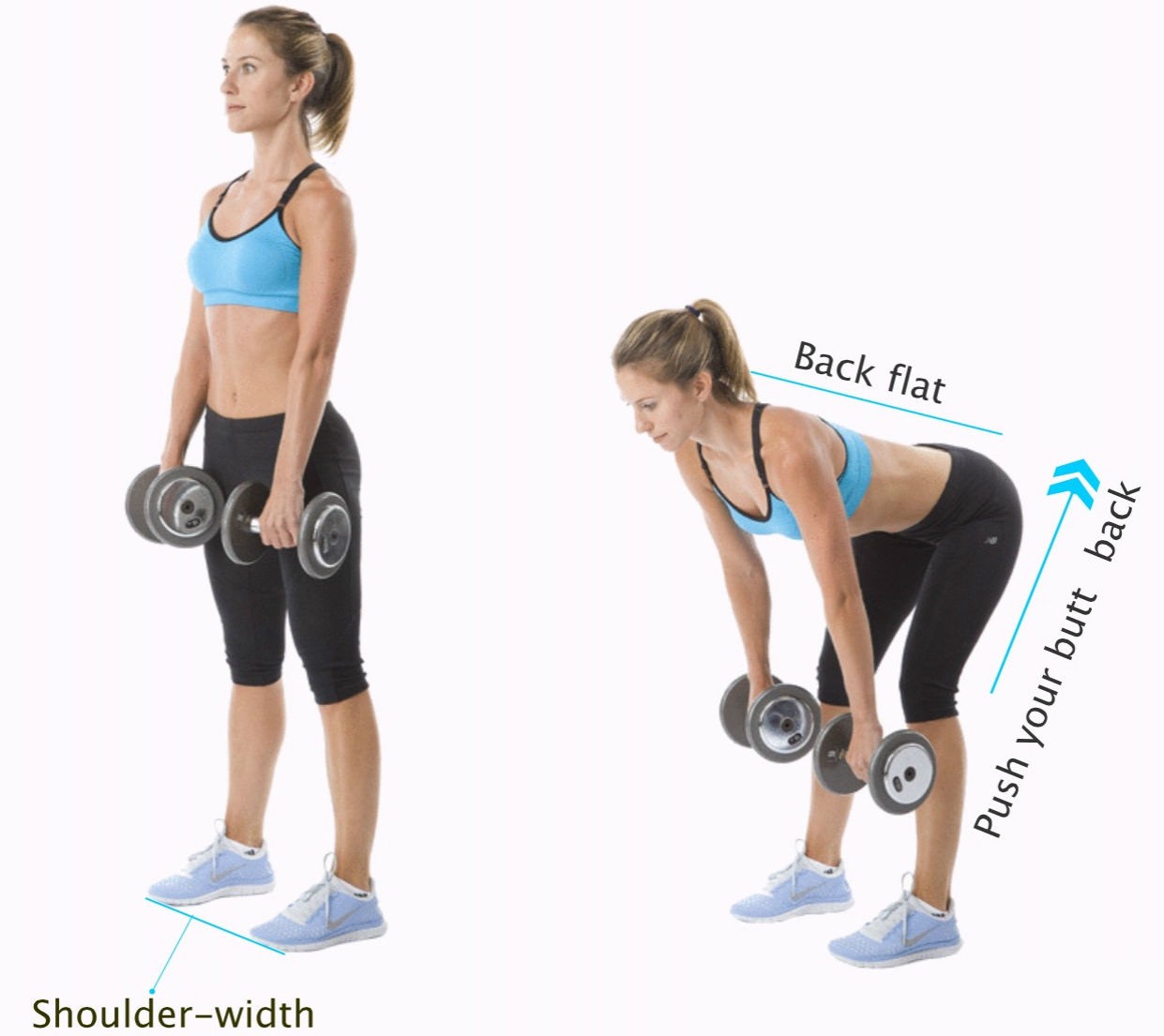 rdl form with dumbbells  Dumbbell RDL - Complete Fitness